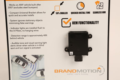 Winner: Brandmotion, Radar Blind Spot System with Cross Traffic Detection
