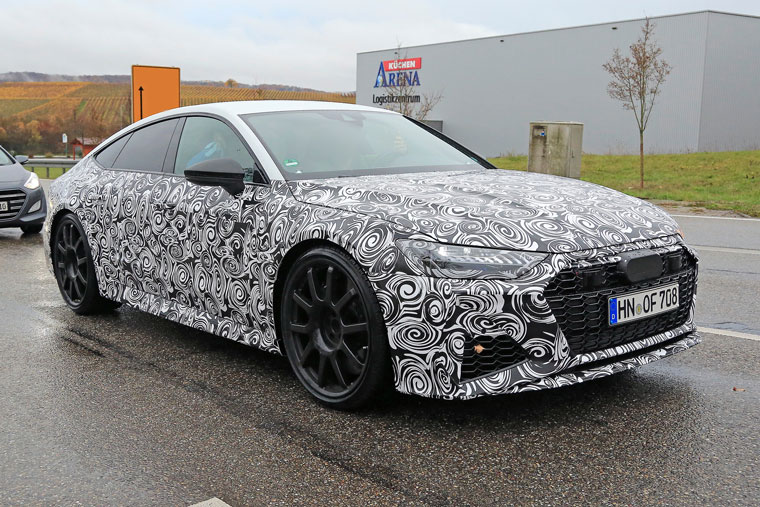 spy shots audi rs7 caught in production duds. Black Bedroom Furniture Sets. Home Design Ideas
