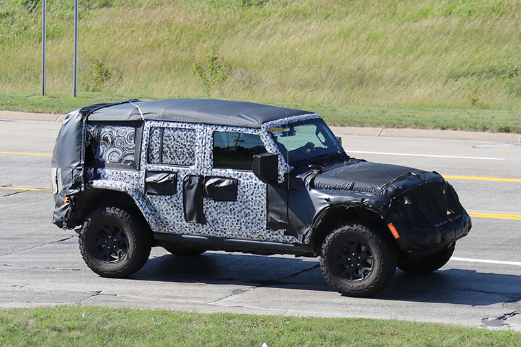 Spy Shots2018 Jeep Wrangler Rubicon Unlimited Softtop