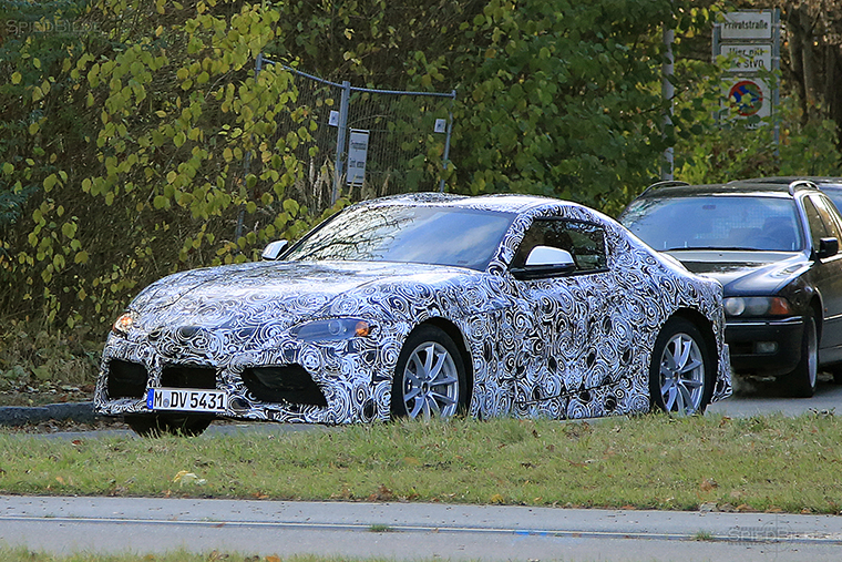 The New Toyota Supra Now With Less Camo