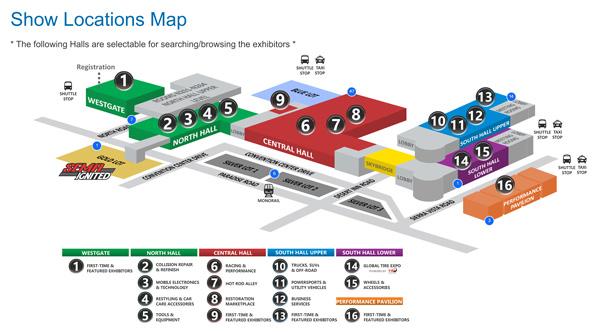 SEMA Show Floorplan