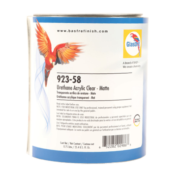 Glasurit 923-58 Urethane Matte Clearcoat