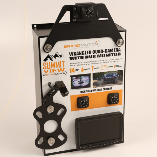 Brandmotion SummitView Jeep Wrangler Quad-Camera with DVR System
