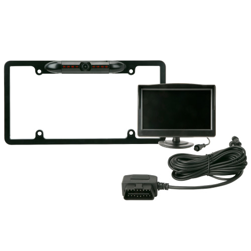 Scosche OBD-II Plug-and-Play Backup Camera Kit with License Plate Frame